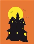 Haunted House Handcrafted Garden Flag