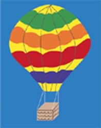 Hot Air Balloon Handcrafted Garden Flag
