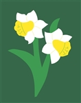 Daffodils Handcrafted Garden Size Flag