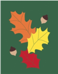Leaves Handcrafted Garden Flag