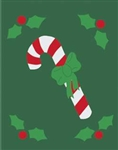 Candy Cane Handcrafted Garden Flag