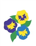 Pansies Handcrafted Garden Size Flag