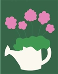 Watering Can Handcrafted Garden Flag