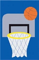Basketball Handcrafted Mid-Size House Flag