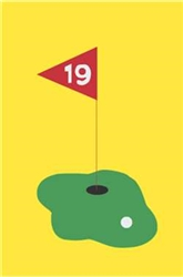 Golf Handcrafted Mid-Size House Flag