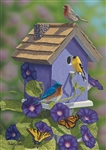 Goldfinch & Morning Glories Garden Flag