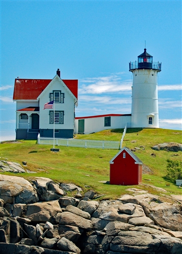 Nubble Lighthouse House Flag