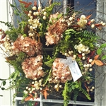 Champagne Hydrangea & Fern Wreath (Limited Edition)