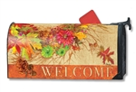 Autumn Wreath MailWraps Mailbox Cover