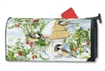 Chickadee Welcome MailWraps Mailbox Cover