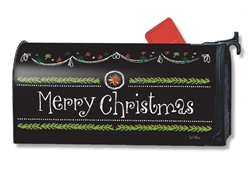 Blackboard Christmas MailWraps Mailbox Cover