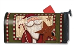 Santa with Star MailWraps Mailbox Cover