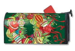 Merry and Bright MailWraps Mailbox Cover