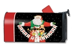 Santa Greetings MailWraps Mailbox Cover