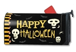 Skeleton Halloween MailWraps Mailbox Cover