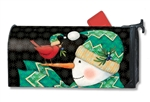 Chevron Snowman MailWraps Magnetic Mailbox Cover