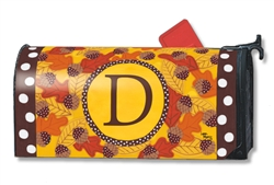 Fall Follies Monogram D MailWraps Magnetic Mailbox Cover
