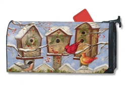 Christmas Birdhouse MailWraps Magnetic Mailbox Cover