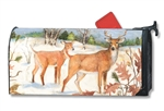 Winter Deer MailWraps Magnetic Mailbox Cover