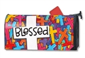 Colorful Crosses MailWraps Magnetic Mailbox Cover