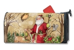 Woodland Santa MailWraps Magnetic Mailbox Cover
