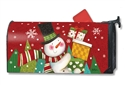 Happy Snowman MailWraps Magnetic Mailbox Cover