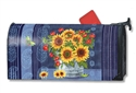 Denim Sunflowers MailWraps Mailbox Cover