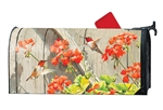 Hummingbirds with Geraniums MailWraps Mailbox Cover