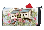 Spring Birdhouse with Clematis MailWraps Mailbox Cover