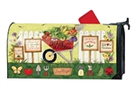 Wheelbarrow Veggies MailWraps Mailbox Cover