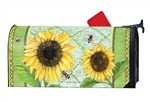 Single Sunflower MailWraps Mailbox Cover