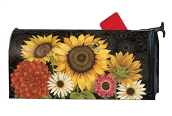 French Sunflowers MailWraps Mailbox Cover