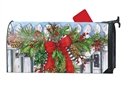 Holiday Garland MailWraps Mailbox Cover