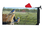 Summer Bluebirds MailWraps Mailbox Cover