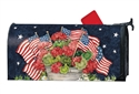 Geraniums with Flags MailWraps Mailbox Cover