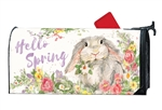 Hello Bunny MailWraps Mailbox Cover