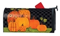 Patterned Pumpkins MailWraps Mailbox Cover
