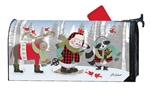 Winter Fun Snowman MailWraps Mailbox Cover