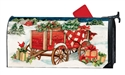 Christmas Farm Wagon MailWraps Mailbox Cover