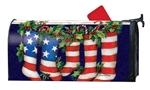 Patriotic Stockings MailWraps Mailbox Cover