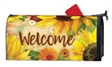Yellow Sunflower MailWraps Mailbox Cover