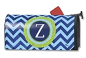 Chevron Monogram Z MailWraps Magnetic Mailbox Cover