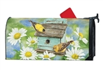 Finches and Flowers Magnetic Mailbox Cover