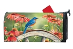 Bluebird Visit MailWraps Mailbox Cover
