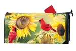 Sunflower Cardinal MailWraps Mailbox Cover
