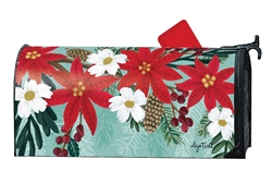 Poinsettia Bloom MailWraps Mailbox Cover