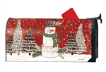 Woodsy Snowman MailWraps Mailbox Cover