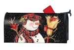 Snowman With Broom MailWraps Mailbox Cover