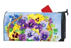 Pansy Blooms MailWraps Mailbox Cover