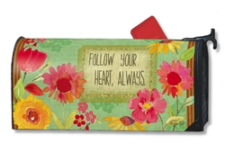 Follow Your Heart MailWraps Magnetic Mailbox Cover